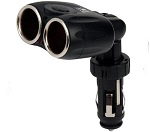 2 Way Double Car Cigarette Lighter Adapter Adaptor Power Socket Splitter Charger