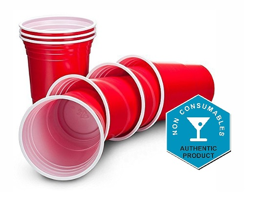 Ruby Apple Red American Party Cups - 16oz (455ml) - Disposable Party Cups - Packs of 100