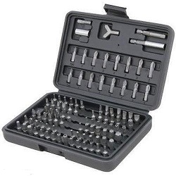 100 PC Chrome Vanadium Security Screwdriver Tamperproof Torx Hex Bit Set + Case