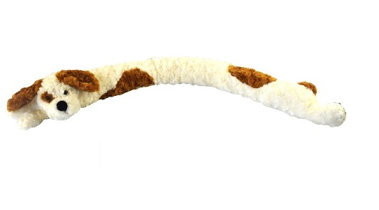 Vivo © Door Draught Excluder Seal Dog Micro fleece Soft Cuddly Draft Wind Stopper[White Brown Dog]