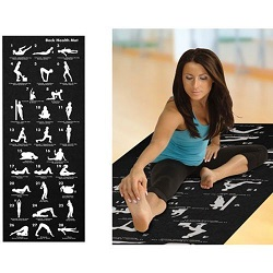 BLUE -28 Position Yoga Exercise Fitness Mat